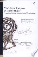 Matemáticas financieras en Microsoft Excel. La hoja de cálculo como herramienta de solución de problemas