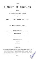 The history of England     to the revolution in 1688 Book