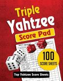 Triple Yahtzee Score Pad