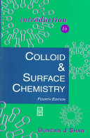 Cover of Introduction to Colloid and Surface Chemistry