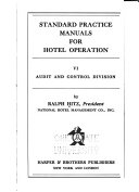 Standard Practice Manuals for Hotel Operation