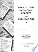 Agricultural Economic and Statistical Publications