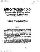 Widder die newe Reformation D. Pfeffingers, des Meismnischen Thumbherrn (etc.)