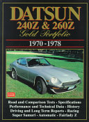 Datsun 240Z and 260Z Gold Portfolio  1970 1978