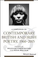 A Companion to Contemporary British and Irish Poetry, 1960 - 2015 Pdf/ePub eBook
