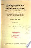 Bibliographie der Sozialwissenschaften