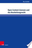 Open Content Lizenzen und das Bearbeitungsrecht