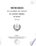 Mémoires de l'Académie des Sciences de l'Institut de France