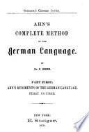 Ahn's complete method of the German language, Complete method of the german language 1879
