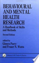 Behavioural and Mental Health Research Book