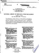 National Library of Medicine Literature Search