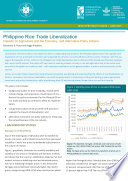 Philippine rice trade liberalization  Impacts on agriculture and the economy  and alternative policy actions