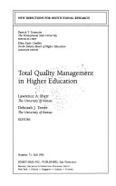 Total Quality Management in Higher Education