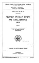 Statistics of Public  Society  and School Libraries