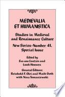 Medievalia Et Humanistica No 41