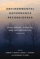Pdf Environmental Governance Reconsidered, second edition Telecharger