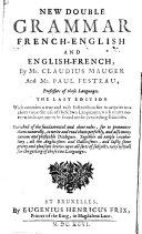 Nouvelle double Grammaire Franc-Angloise ... ebook