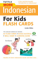 Tuttle More Indonesian for Kids Flash Cards