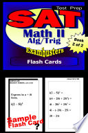 SAT Math Level II Test Prep Review  Exambusters Algebra 2 Trig Flash Cards  Workbook 2 of 2