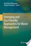 Emerging And Eco Friendly Approaches For Waste Management Book PDF
