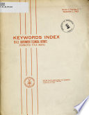 Keywords Index to U S  Government Technical Reports Book