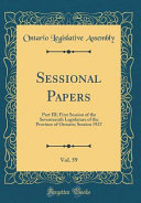 Sessional Papers, Vol. 59