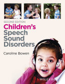 Children S Speech Sound Disorders Book
