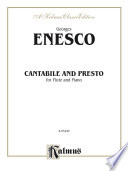 Cantabile and Presto Book