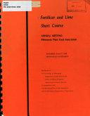 Fertilizer and Lime Short Course