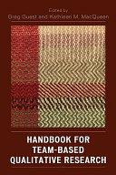 Handbook for Team based Qualitative Research