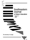 Southeastern Journal Of Music Education Book
