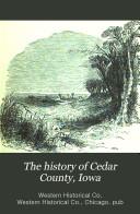 The History of Cedar County  Iowa