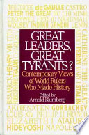 Great Leaders Great Tyrants  Book PDF