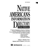 Native Americans Information Directory Book