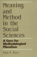 Meaning and Method in the Social Sciences