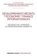 Pdf Développements récents en économie et finances internationales Telecharger