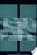 Pro Poor Growth And Governance In South Asia Book PDF