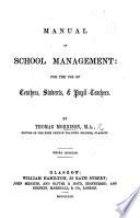 Manual of School Management     Book