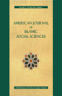 Pdf American Journal of Islamic Social Sciences 22:1 Telecharger