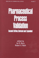 Pharmaceutical Process Validation Second Edition Book PDF