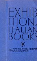 Exhibition of Italian Books  San Francisco Public Library  November  1929