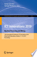 ICT Innovations 2019. Big Data Processing and Mining