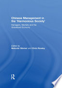 Chinese Management in the  Harmonious Society
