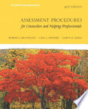 Assessment Procedures For Counselors And Helping Professionals PDF