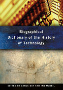 biographical dictionary of the history of technology mcneil ian day lance
