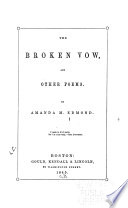 The Broken Vow  and Other Poems