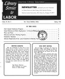 Library Service To Labor Newsletter