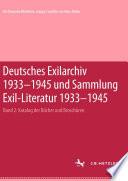 Deutsches Exilarchiv 1933-1945 und Sammlung Exil-Literatur 1933-1945