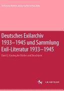 Pdf Deutsches Exilarchiv 1933-1945 und Sammlung Exil-Literatur 1933-1945 Telecharger