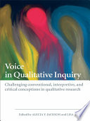 Voice in Qualitative Inquiry